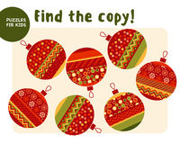 Christmas colorful baubles set in patchwork style. stock illustration