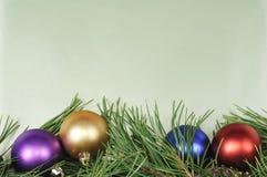 Christmas Colorful Border Stock Photography