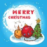 Christmas Colorful Card Stock Photos