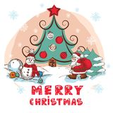 Christmas Colorful Card Royalty Free Stock Images