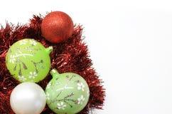 Christmas colorful decorations. Christmas bright colorful decorations on white background stock illustration