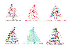 Christmas colorful design Royalty Free Stock Photos