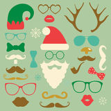 Christmas Colorful Fashion Silhouette Set Hipster Royalty Free Stock Image