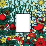 Christmas Colorful Frame Stock Photography