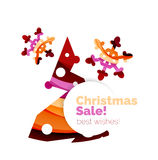Christmas colorful geometric abstract background. Vector Stock Image