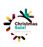 Christmas colorful geometric abstract background Stock Photos