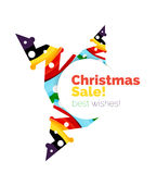 Christmas colorful geometric abstract background Stock Photography