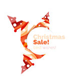 Christmas colorful geometric abstract background Stock Image