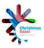 Christmas colorful geometric abstract background. Vector Royalty Free Stock Image