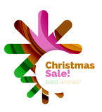 Christmas colorful geometric abstract background. Vector Royalty Free Stock Photos