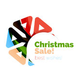 Christmas colorful geometric abstract background. Vector Royalty Free Stock Photo