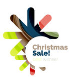 Christmas colorful geometric abstract background Stock Photo