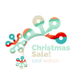 Christmas colorful geometric abstract background Royalty Free Stock Image