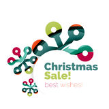 Christmas colorful geometric abstract background Stock Images