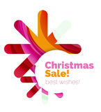 Christmas colorful geometric abstract background. Vector Royalty Free Stock Images
