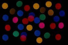 christmas colorful lights Στοκ Εικόνες