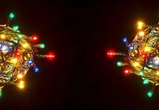 christmas colorful lights στοκ εικόνα με δικαίωμα ελεύθερης χρήσης