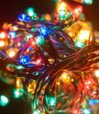 christmas colorful lights στοκ εικόνα