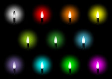 Christmas Colorful Lights Collection Royalty Free Stock Photo