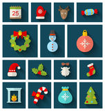 Christmas Colorful Objects and Elements Stock Image