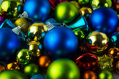 Christmas colorful ornament stock images