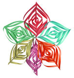 Christmas colorful paper snowflake Stock Image