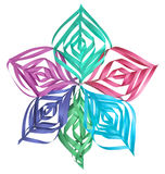 Christmas colorful paper snowflake Royalty Free Stock Photography