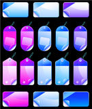 Christmas Colorful Promotional sales price labels Stock Photo