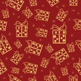 Christmas colorful seamless background. Stock Photos