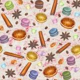 Christmas colorful seamless pattern Stock Image