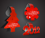 Christmas colorful sticker design Royalty Free Stock Photos