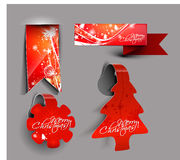 Christmas colorful sticker design. For text project used Vector Illustration