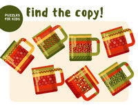 Christmas colorful tea mag set in traditional color Royalty Free Stock Photos