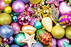 Christmas colorful toys texture background Royalty Free Stock Photography