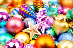 Christmas colorful toys texture background Stock Images