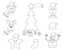 Christmas coloring book Royalty Free Stock Photos