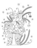 Christmas coloring page vector illustration