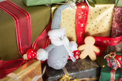 Christmas colors Stock Images