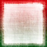 Christmas Colors Fabric Grunge. Red and green colors for christmas designs on a grunge canvas with white copyspace Stock Photo