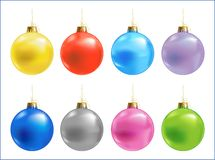 Christmas colour balls Stock Photos