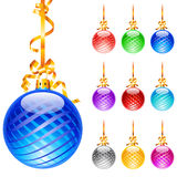 Christmas colourful balloons Stock Photo