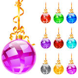 Christmas colourful balloons Royalty Free Stock Photos
