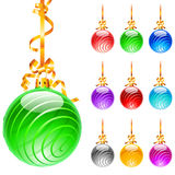 Christmas colourful balloons stock images