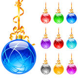 Christmas colourful balloons Royalty Free Stock Photography