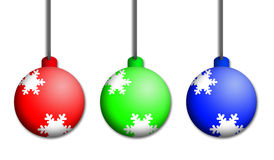 Christmas Colourful Baubles Stock Photos