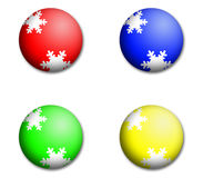 Christmas Colourful Baubles Royalty Free Stock Photography