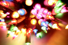 christmas colourful lights Stock Photos