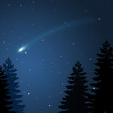 Christmas comet. Illustration to the bright Comet in the Christmas night Royalty Free Stock Image