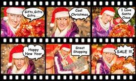 Christmas Comincs Stock Images