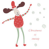 Christmas is coming card Royalty Free Stock Photography